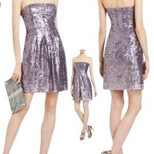 BCBG Strapless Sequin Dress